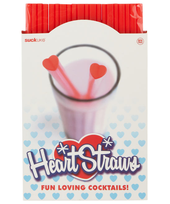 Heart straws - £4.95 available at Liberty of London