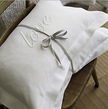 The White Company Love cushion cover - £22