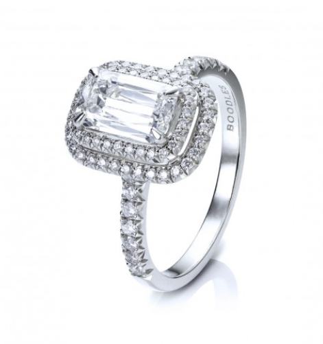 Boodles Double Vintage Ashoka diamond ring - £14,500. One the heaviest bands on this list and one that I almost didn't include however I thought it interesting to see how and increse in band width of only 1 or 2mm has a huge impact on the proportions of the ring.