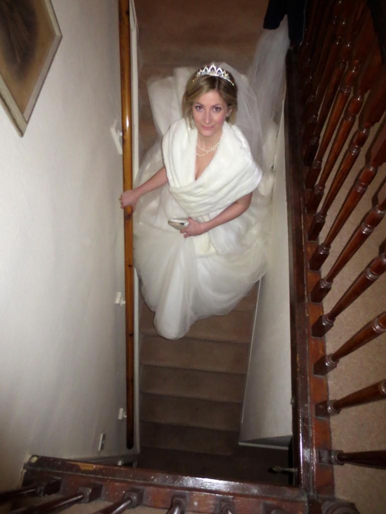 Obligatory stair-decending shot ;-)