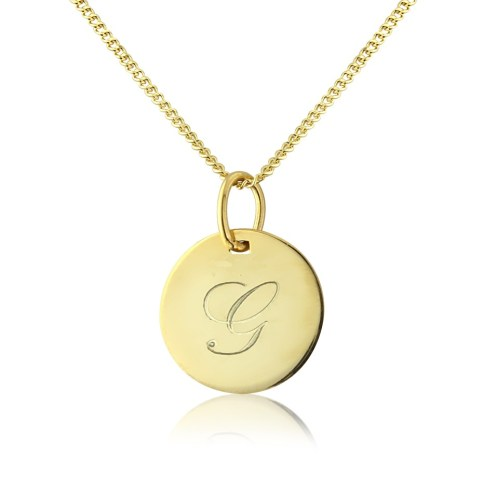 Argent_London_Personalised_gold_disc_pendant