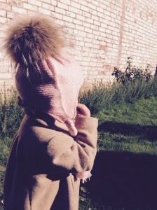 Childrens fur bobble hat 2