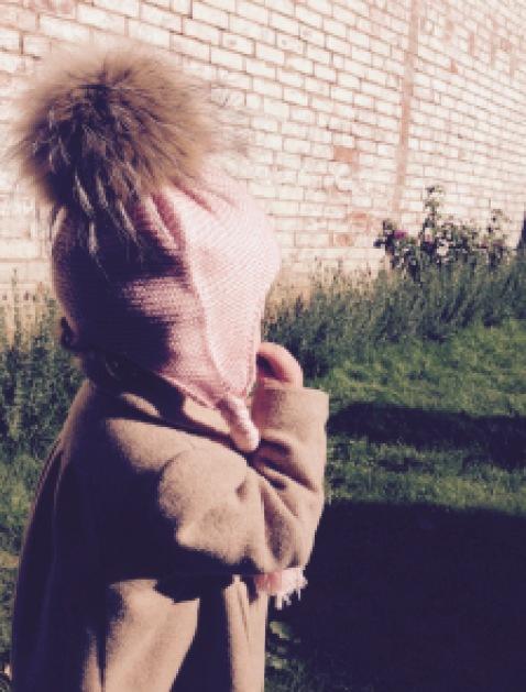 Childrens fur bobble hat 2