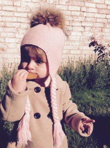 Childrens fur bobble hat 3