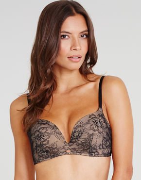Figleaves Gossard Supersmooth Lace non wired plunge bra