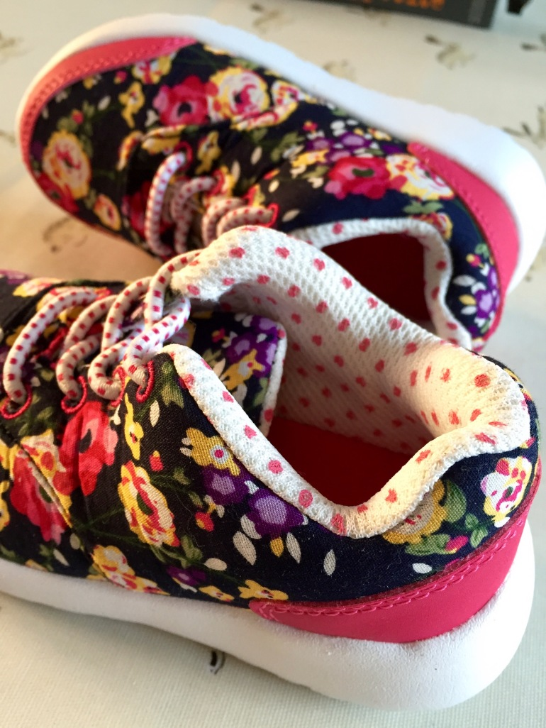 Sainsburys floral toddler trainers