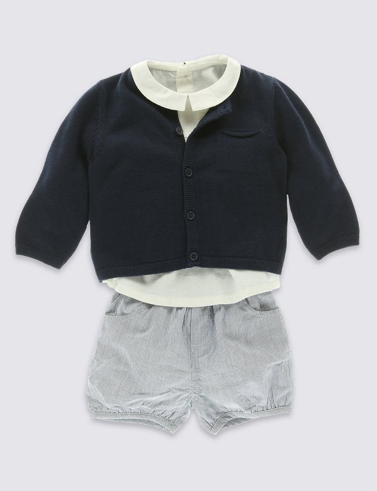 M&S shirt and shorts set