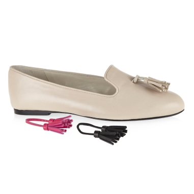 French Sole beige slippers