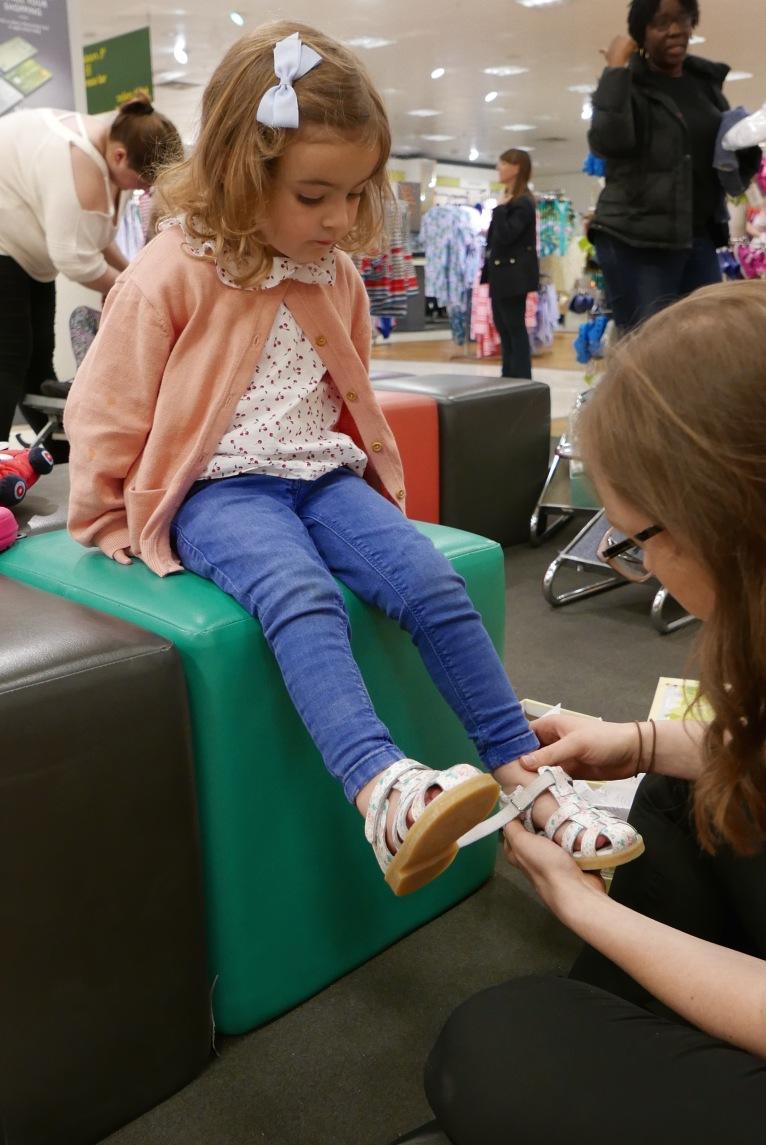 John Lewis Nottingham childrens shoe service