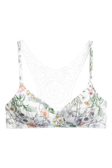 hm lace back bikini top non-wired