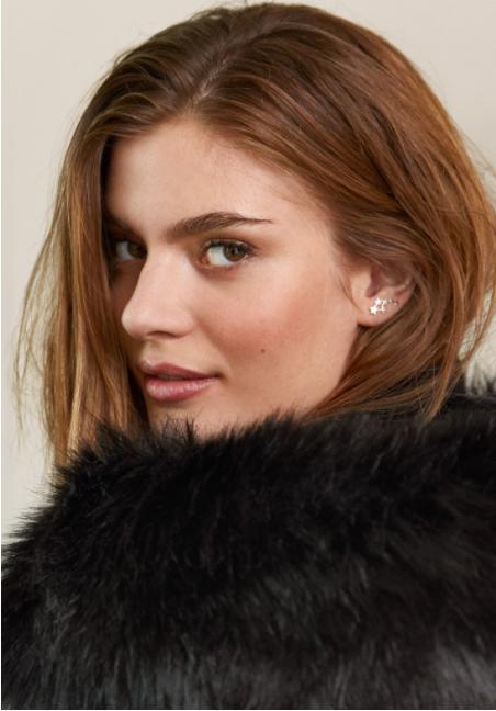 Hush silver stars earrings