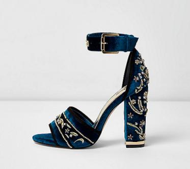 River Island velvet high heels